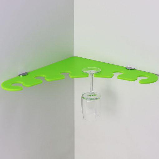 6 glass acrylic corner wine glass shelf