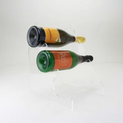 minimalist acrylic wine rack for 3 bottles