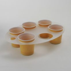 6 cup oval vending machine cup tray