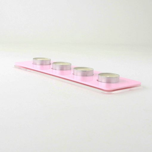 rectangle shaped tea light holder made from acrylic