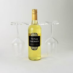 2 glass acrylic wine bottle glass holder