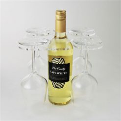 4 Glass Clear Acrylic Wine Bottle Glass Holder
