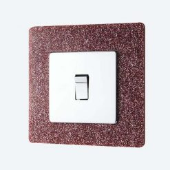 Pink Glitter Light Switch Surround