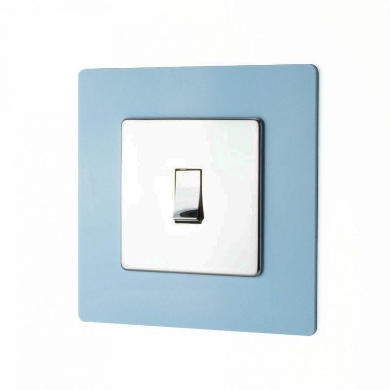 Single Socket Surround Blue Acrylic