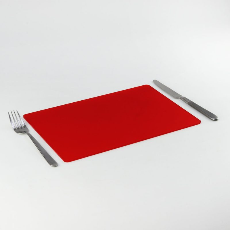 Rectangle Acrylic Placemats - Chilli Red