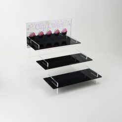 Tiered Cupcake Stand with Mirror Header