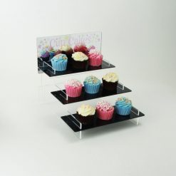 Cupcake Stand with Printed Mirror Header 3 tier
