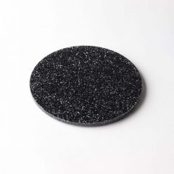 Circle Black Glitter Coaster