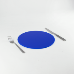 Round Acrylic Placemats - Royal Blue