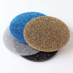 Circle Staggared Stack 4 Colour Glitter Coasters