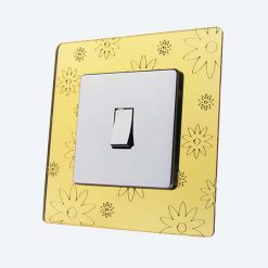 Flowers Gold Mirror Light Switch Surrounds