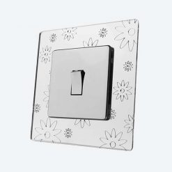 Flowers Mirror Light Switch Surrounds