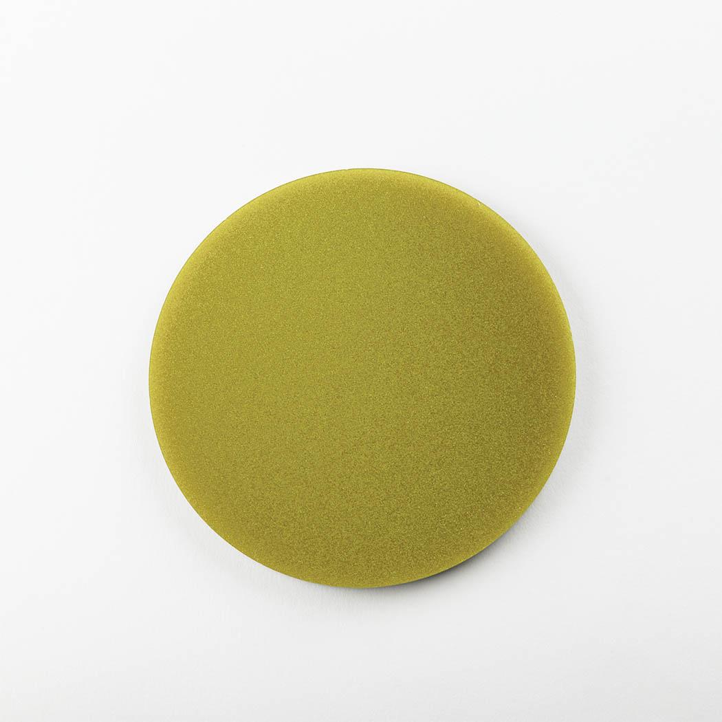 Metallic Round Coasters Gold Acrylic Face on Shot