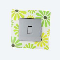 Green Flowers Light Switch Surround
