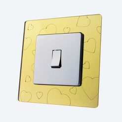 Hearts Gold Mirror Light Switch Surrounds