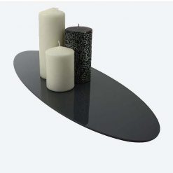 Large Oval Table Runner with candles