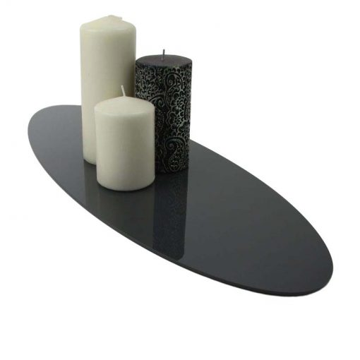 Large Acrylic Oval Table Runner Black