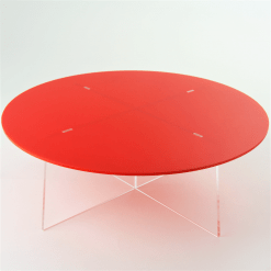 Large Round Cake Stand empty red acrylic