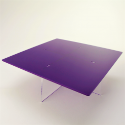 Square empty Cake Stand - Violet