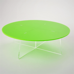 medium round cake stand empty green acrylic