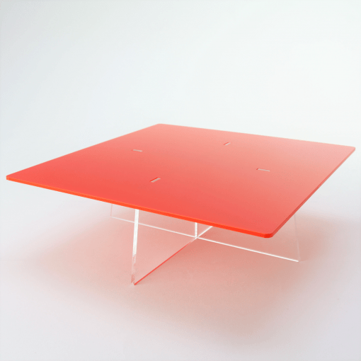 square cake stand red acrylic medium