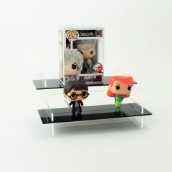 Pop Vinyl Display Stand Two Tiered Black Stand with Figures