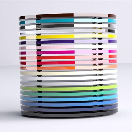 Round Acrylic Coasters Stacked Image 2