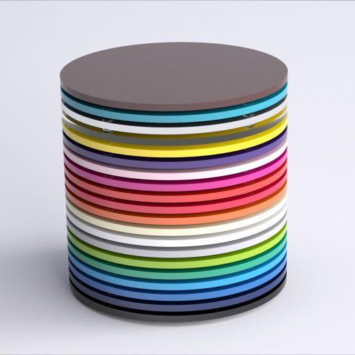 Round Acrylic Coasters Stacked Image 1