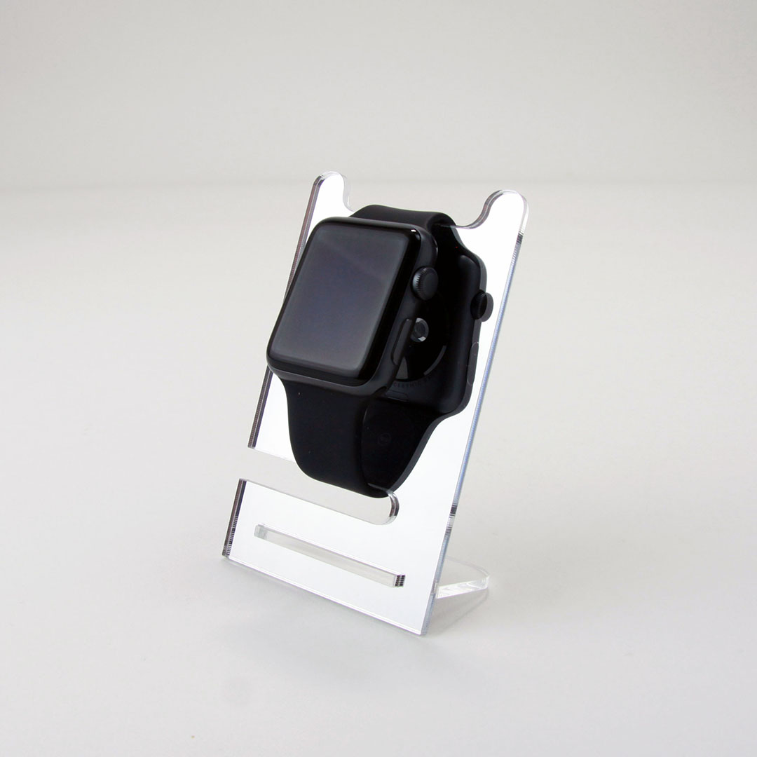 Single Watch Display Stand Mirrored Acrylic