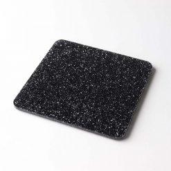 1 Square Black Glitter Coaster