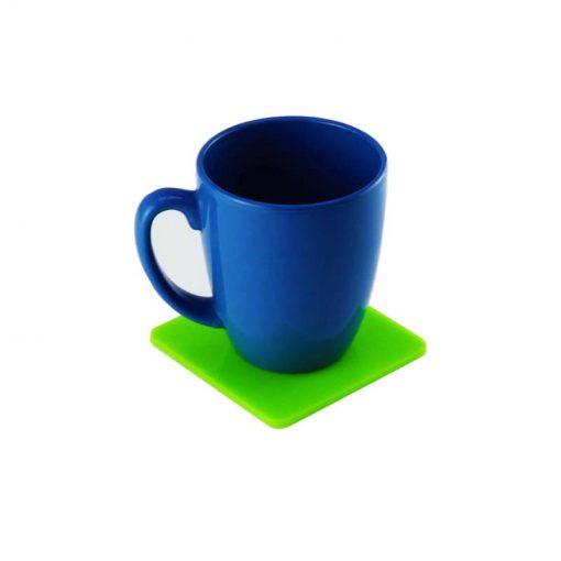 Square Coaster Green with mug