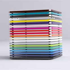 Acrylic Square Coasters Stacked 2