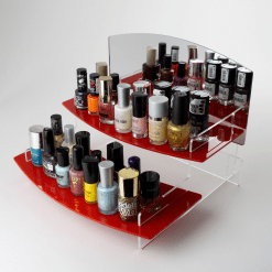 395mm Regular Curved Nail Varnish display stand