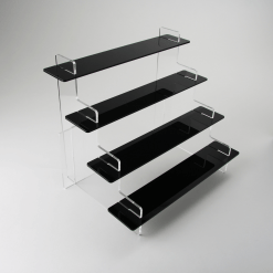 495mm Acrylic Display Stand Black 4 tier