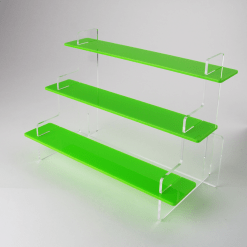 Three Tiered Green Acrylic Display Stand