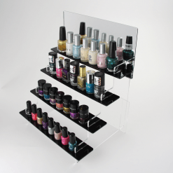 295mm Slimline Nail Varnish Tiered Stand with Mirror Header