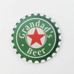 Heineken Grandads Beer Printed Acrylic Coaster