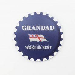 Lambs Navy Rum Best Grandad Printed Acrylic Coaster