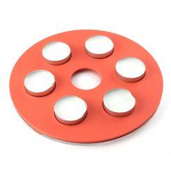 Round Orange Acrylic Tealight Holder with candles