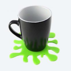 Green Splat Coaster with Mug