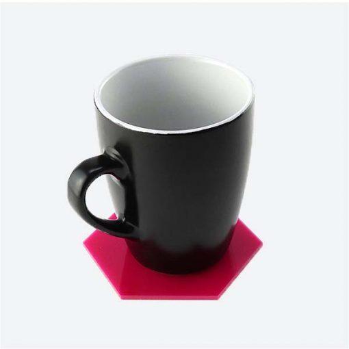 Hexagon Coaster with Mug