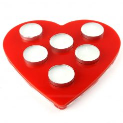 Love Heart Acrylic Tealight Holder