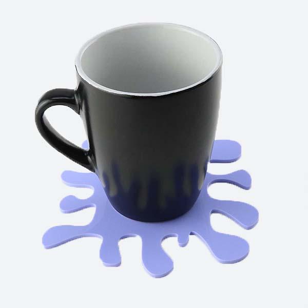 Purple Splat Coaster with Mug