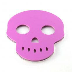 Skull Tea Light Holder Pink Acrylic no candles