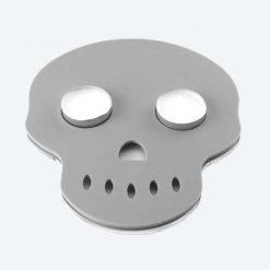 Grey Skull Tea Light Holder