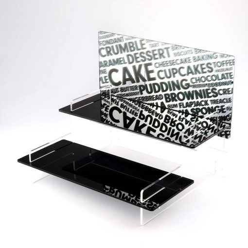 Tiered Cupcake Stand with a Baking Words Printed Mirror Header