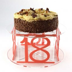 Acrylic 18th Birthday Celebration Cake Stand