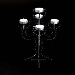Small Acrylic Candelabra Tea Light Holder