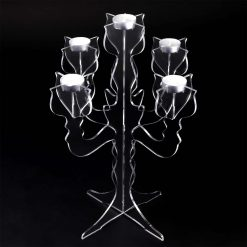 Clear Acrylic Candelabre Tea Light Holder