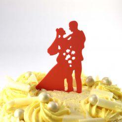 Bouquet Design Wedding Cake Topper